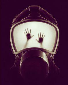 mask hands illustration