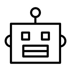See more icon inspiration related to bot, robot, android, Science fiction, electronics, user, head, avatar and technology on Flaticon.