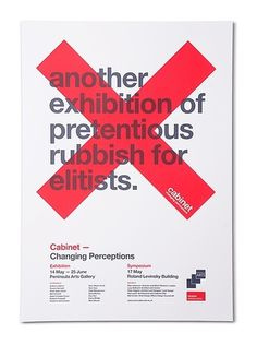 Cabinet Poster #design #typography #poster #simple #swiss