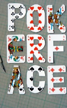 poker face (font experiment) on the Behance Network #experimental #poker #type #cards #typography