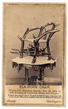 File:KinmanLincolnChair.jpg #elk #chair #lincoln