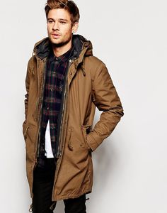 Selected Premium Fishtail Parka With Detachable Lining, www.asos.com #fashion #male #parka