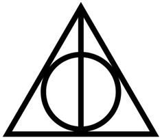 . #harry #potter #deathly #hallows #logo #signet