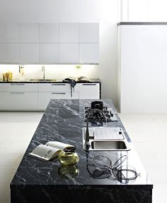 Fitted #Kitchen with Island by Luca Meda - #design, #furniture, #modernfurniture,
