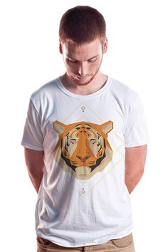 Tiger Tee - Hadrien Degay Delpeuch #vector #tshirt #cat #digital #tee #fashion #tiger #animal #cooltee #8bit