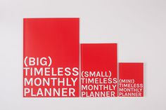 OCTÀGON - OOSS #red #octagon #agenda #planner #diary #monthly #timeless