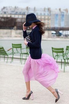 The Sartorialist #pink #photography #navy #fashion #blue