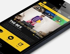 National Geographic Re design on Behance #ui