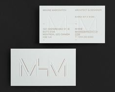 MHM Architect by 26 Lettres | Incredible Types #incredible #architect #types #26 #lettres #mhm