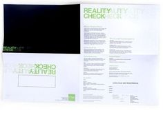 REALITY CHECK : _ #print #design #graphic #poster