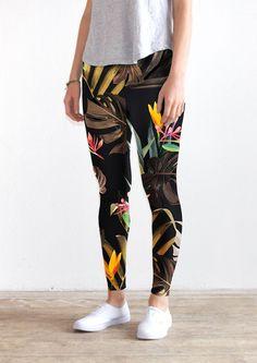 Tropical leggings by KFKS store. #clothing #fashion #design #pattern #tropical #wild #kfksleggings #newyork #illustration