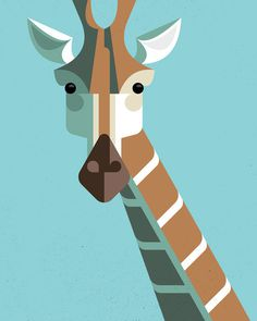 Style DAD #illustration #giraffe #geometric