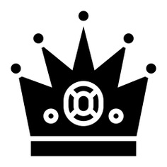 See more icon inspiration related to crown, king, win, accessory, champion, winner, royal and fashion on Flaticon.