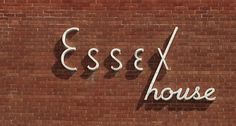 Essex House - 60s signage #signage #60s #typography