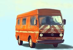 http://www.oscarmar.com/index.php?/work/illustration/ #truck #wagen #van #oscar #volks #illustration #cartoon #mar #car