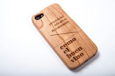 """Como el buen vino"" brand #phone #design #wood #brand #mobile #studio"