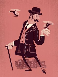 Esther Aarts » Giant Gentleman #illustration #poster