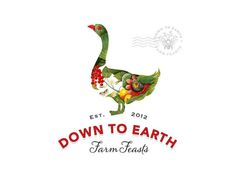 Visual graphc Down to Earth Farm Feasts by Bia van Deventer #logo #texture