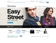 Matinique E-Commerce site re-design pitch on Web Design Served #cxvxvcx