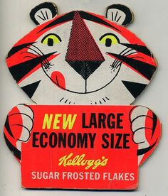 Super Punch: Gallery of vintage food packaging #vintage #retro #tiger #kellogs