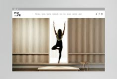 MOVE Yoga by Thomas Williams & Co. #website #web #web design