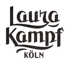 Laura Kampf by Simon Walker #type #typo #script #lettering #font #logo #brand #mark