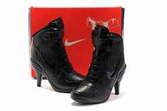 Nike Air Force 1 Heels All Black #shoes