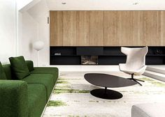 Amsterdam Spacious Home with Young Spirit by i29 Interior Architects beautiful oak veneer wall cladding #interior #design #living #room