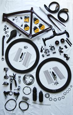 napoleonfour #bicycle #nuts #disassemble #bike #bolts #parts