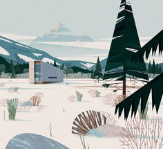 CABINS BOOK - illustrations on Behance #illustration