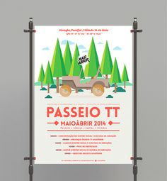 passeio tt poster by heymikel #print #design #graphic #illustration #gigposter #poster #heymikel