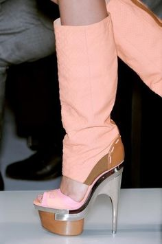 Pinned Image #pink #boot #shoes #versace