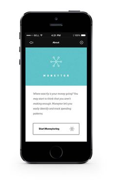 Moneytor on Behance [Simplified Article View Inspiration] #app #mobile