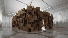 Zimoun - BOOOOOOOM! - CREATE * INSPIRE * COMMUNITY * ART * DESIGN * MUSIC * FILM * PHOTO * PROJECTS #zimoun #sculpture #cardboard