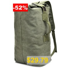 Outdoor #Large #Capacity #Water-proof #Canvas #Backpack #- #ARMY #GREEN