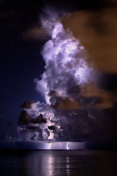 Sleepless Dreams | Dark #ocean #clouds #photography #storm #sea #lightning #illumination