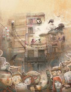 "CJWHO ™ (Brussels in shorts by Antonio Segura Donat ""Me...) #amazing #design #illustration #art #drawing"