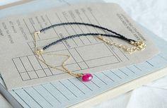 天然石のネックレス(ルビー) * necklace * rimix #fashion #accessory