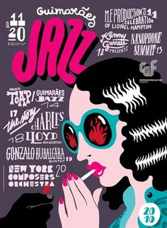 GUIMARÃES JAZZ 2010 on the Behance Network #illustration #awesome
