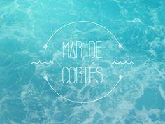 Mar de Cortés // Bahía Type #sonora #bay #mxico #sea #kestudio #type #blue #coast