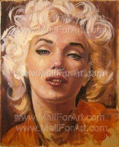 A different interpretation of realistic art - Angel Ivanov's paintings #woman #monroe #realism #portrait #painting #paintings #marilyn #oil