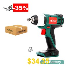 LANNERET #Cordless #Electric #Wrench #20V #Impact #Wrench #150N.m #LED #Working #Light #4.0Ah #Lithium #Battery