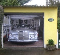 Mercedes Garage Door Mural #tech #flow #gadget #gift #ideas #cool