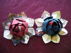 lotos /01 | Flickr - Photo Sharing! #gift #recycle #origami #lotus