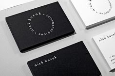 Nick Kozak Business Cards #nick #business #branding #identity #stationery #kozak #cards #typography