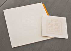 KW Wedding Invitation - Helen Brennan Creative #print #letterpress #invitation #invite