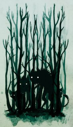 Folklore Illustrations by Jenni Saarenkyla, via Behance #folklore #fantasy #monster #illustration #nature #magic #dark #forest #character