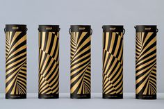 op art, tube, gold