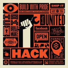 Hack Poster | The Graphic Works of Ben Barry #barry #design #orange #black #poster #ben