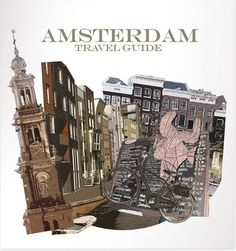 travel guide book cover #cover #illustration #book #amsterdam
